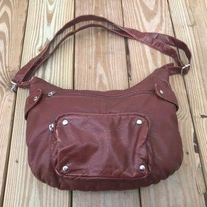 Handbags - Womens Handbag Brown Man made Leather Hand Bag